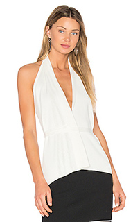 Plunge neck halter top - EGREY