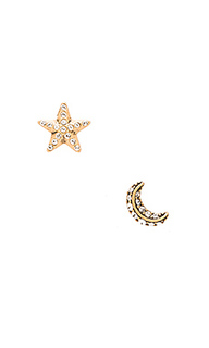 Серьги-гвоздики moon and star - Marc Jacobs