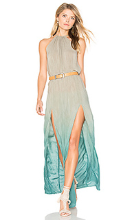 Slit halter dress - Blue Life