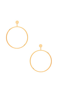 Autumn circle drop hoop earring - gorjana