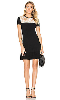 Short sleeve drop waist mini dress - Red Valentino