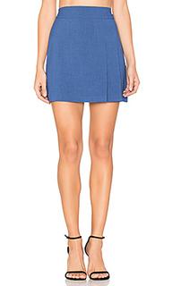 Bianka side pleat mini skirt - Alice + Olivia