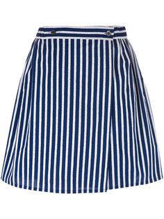 полосатая юбка А-силуэта Maison Kitsuné