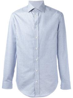 рубашка с сетчатым узором Armani Collezioni