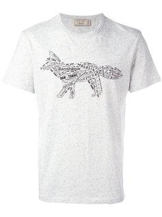 футболка с принтом лисы Maison Kitsuné