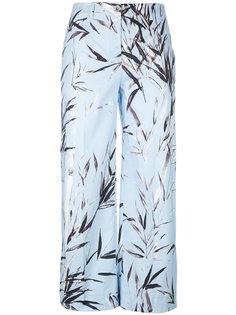 укороченные брюки с растительным принтом Blumarine