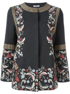 пиджак с цветочной вышивкой Vilshenko