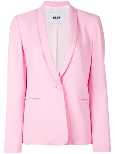 пиджак с лацканами-шалькой MSGM