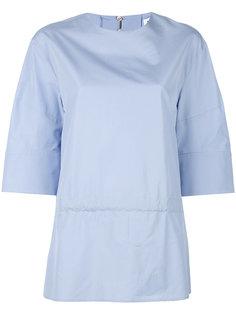 блузка с присборенным поясом Jil Sander