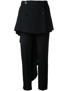 брюки с драпированной панелью Antonio Berardi