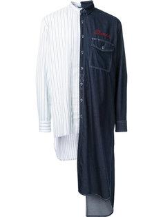 комбинированная рубашка Miharayasuhiro
