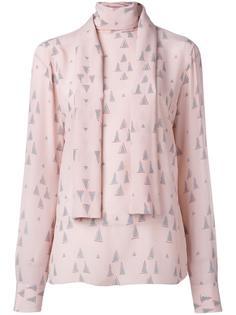 блузка с узором Valentino