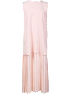 многослойное плиссированное платье Adam Lippes