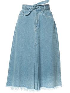 джинсовая юбка с присборенным поясом Zimmermann
