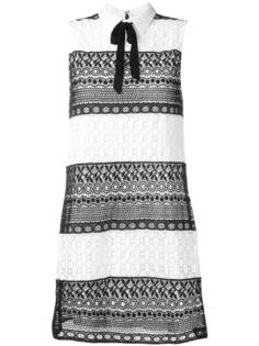 кружевное платье дизайна колор-блок Alice+Olivia