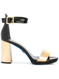 босоножки на контрастном каблуке Loriblu