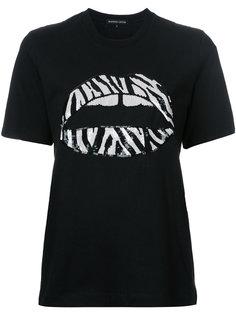 футболка с губами из пайеток Markus Lupfer