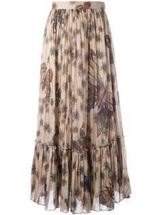 юбка с принтом бабочек Valentino