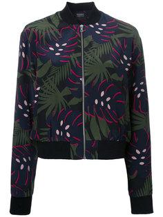 куртка-бомбер с лиственным принтом  Markus Lupfer
