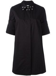 платье-рубашка с заклепками на воротнике Mm6 Maison Margiela