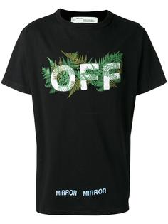leaf embroidered T-shirt Off-White
