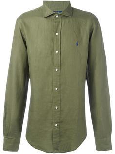 рубашка с вышивкой на груди Polo Ralph Lauren