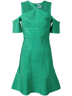 платье с открытыми плечами Hervé Léger