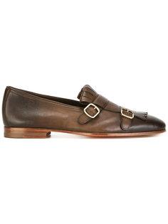 туфли монки с градиентным эффектом Santoni