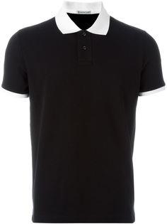 футболка-поло с контрастной окантовкой на рукавах и воротнике  Moncler