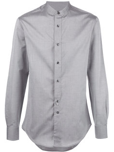 рубашка с воротником-стойка Emporio Armani