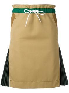 юбка с плиссированными панелями Sacai