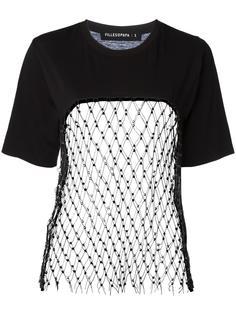 футболка с сетчатой панелью Filles A Papa