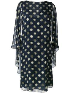 платье шифт с геометрическим узором Alberta Ferretti