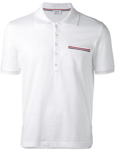 рубашка-поло с нагрудным карманом Thom Browne
