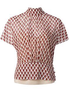 блузка с принтом Amarena Red Valentino