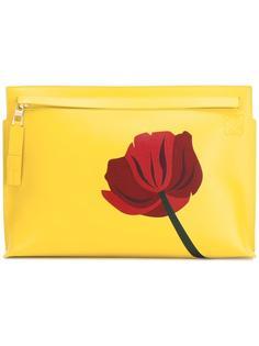 клатч с цветочным принтом Loewe