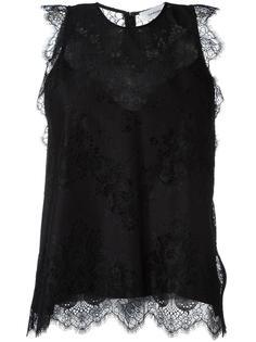 блузка с кружевной отделкой Carven