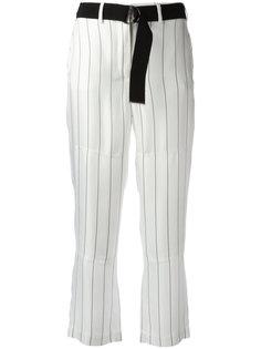 укороченные брюки в полоску Giorgio Armani