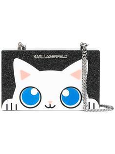 сумка через плечо с котом Karl Lagerfeld