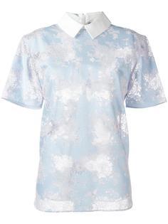 кружевная футболка с классическим воротником Carven