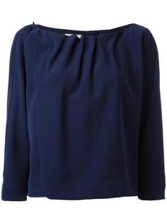 блузка с плиссировкой Armani Collezioni
