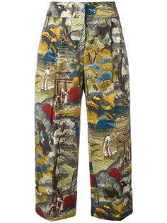 укороченные брюки с принтом-пейзажем Antonio Marras