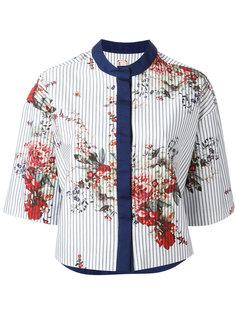 укороченный пиджак с цветочным принтом Antonio Marras