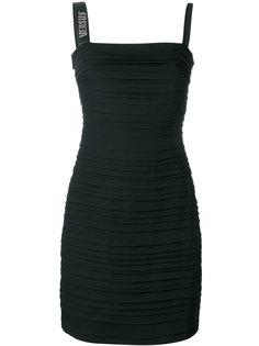 приталенное платье в рубчик Versus