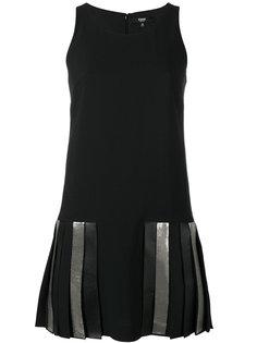 платье с плиссированным подолом Versus