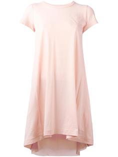 cupro insert tunic T-shirt Sacai