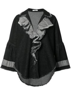 denim ruffled jacket Tome