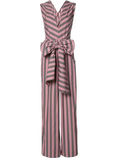 Wide Stripe Sleeveless jumpsuit Tome