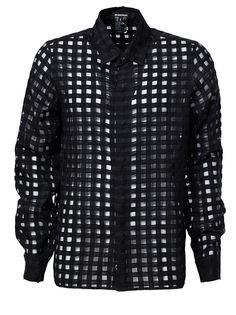 прозрачная рубашка в сетку Ann Demeulemeester