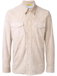 кожаная куртка с нагрудными карманами Canali